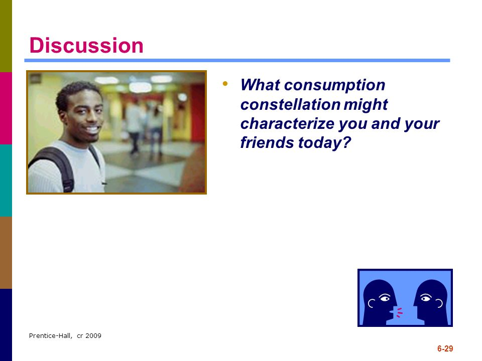 Discussion What consumption constellation might characterize you and your friends today.