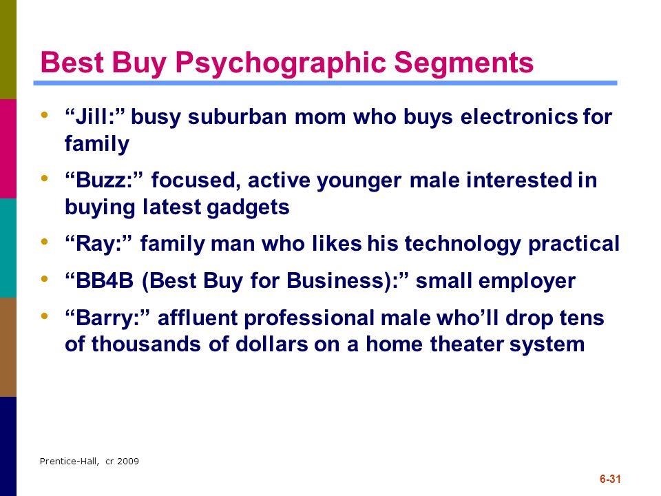 Best Buy Psychographic Segments