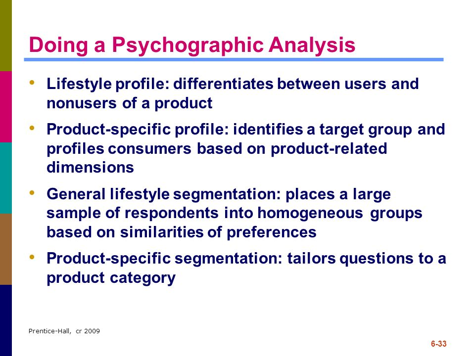Doing a Psychographic Analysis