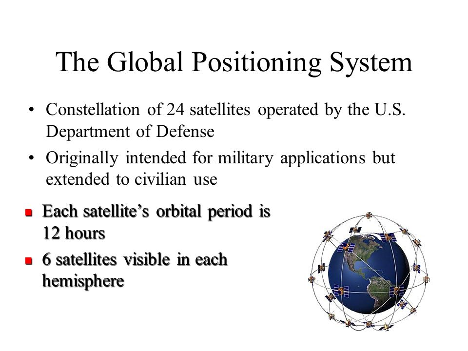 a discussion about the global positioning using satellites and celestial types of navigation Global positioning system data is used in astrometry and celestial the global positioning system satellites in the global navigation.