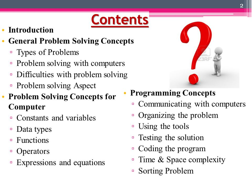 general problem The following is a general problem-solving process that characterizes the steps that can be followed by any discipline when approaching and rationally solving a .