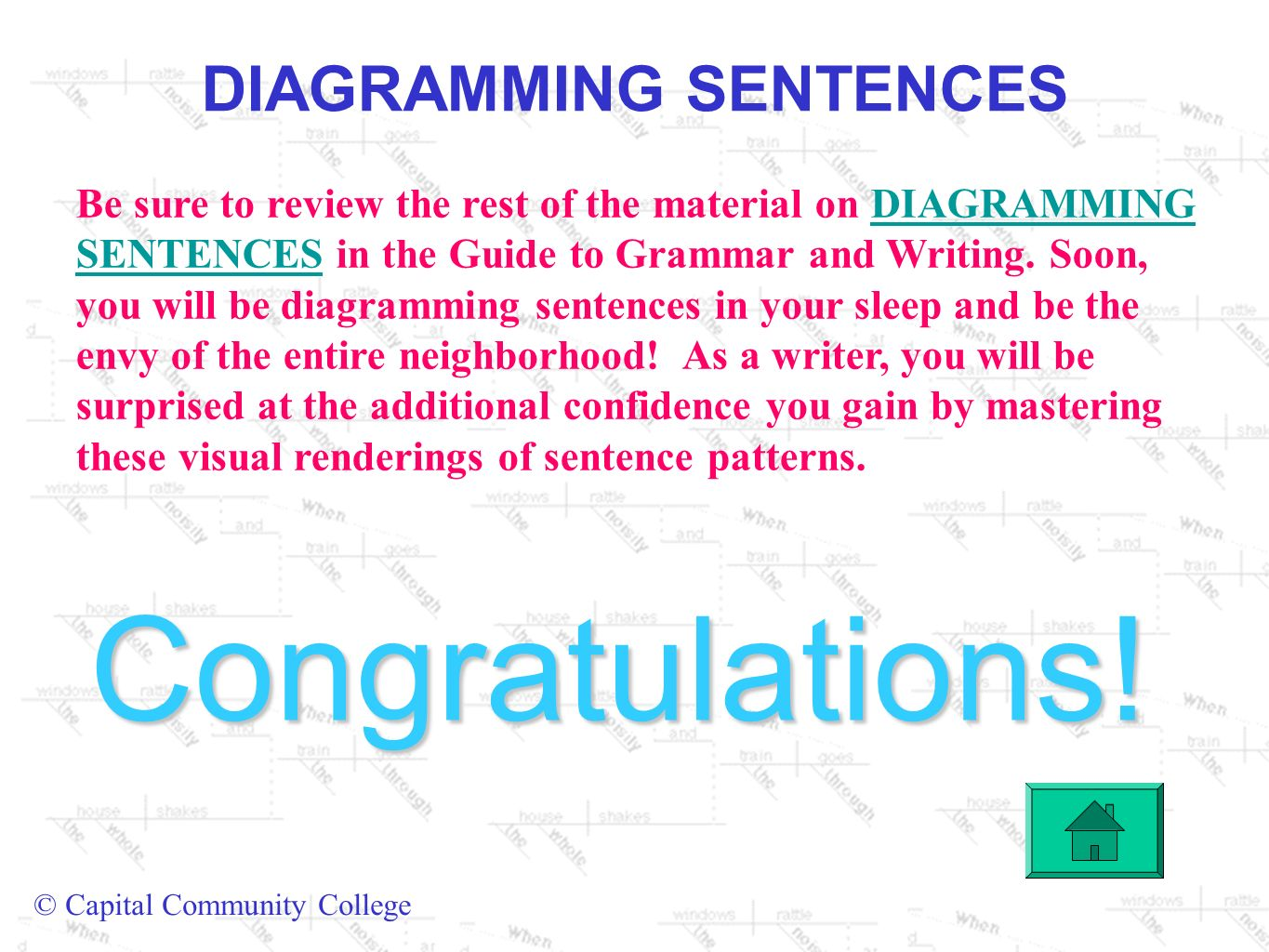 Diagramming sentences ppt video online download diagramming sentences ccuart