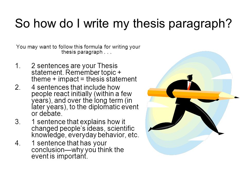 Stuck on Your Thesis Statement?