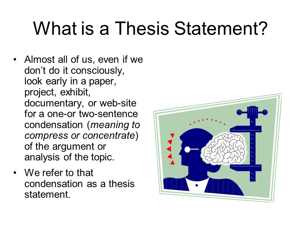 Thesis statements for project