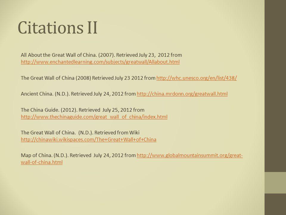 Citations II