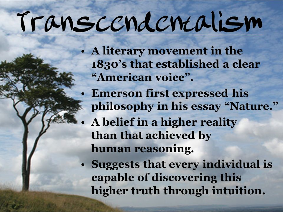 What Is the Connection between Romanticism and Transcendentalism?