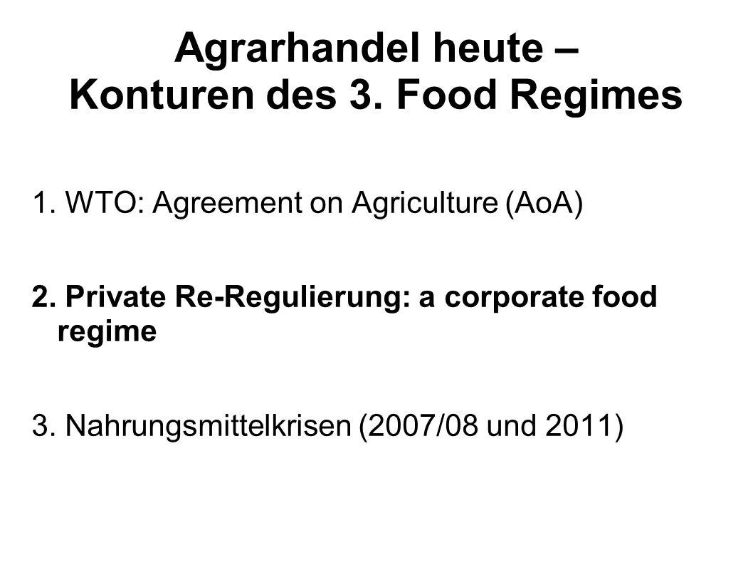 Agrarhandel heute – Konturen des 3. Food Regimes