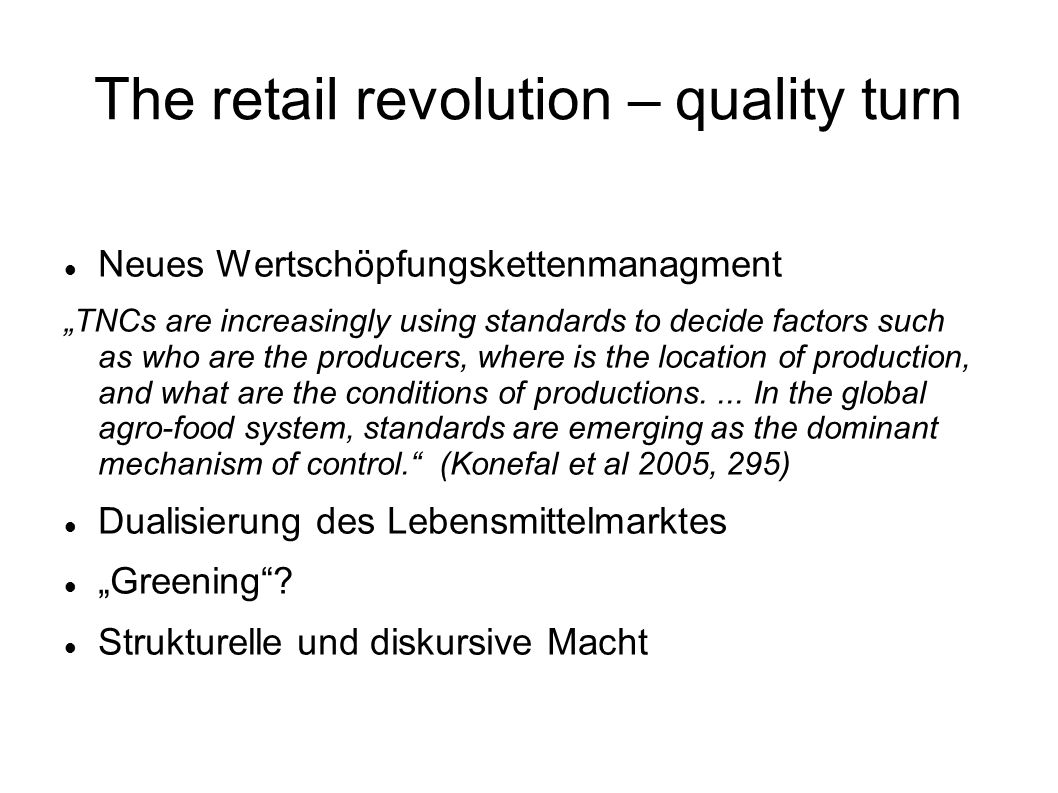 The retail revolution – quality turn