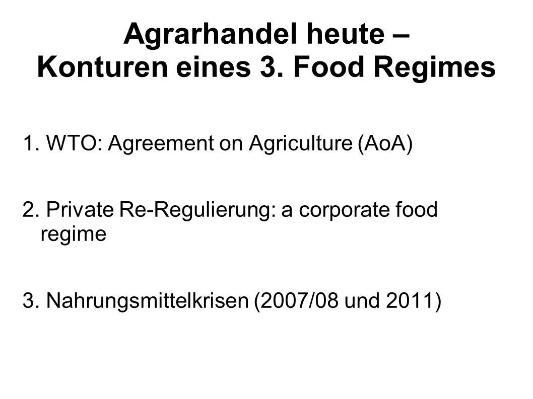 Agrarhandel heute – Konturen eines 3. Food Regimes