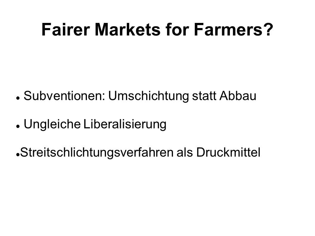 Fairer Markets for Farmers