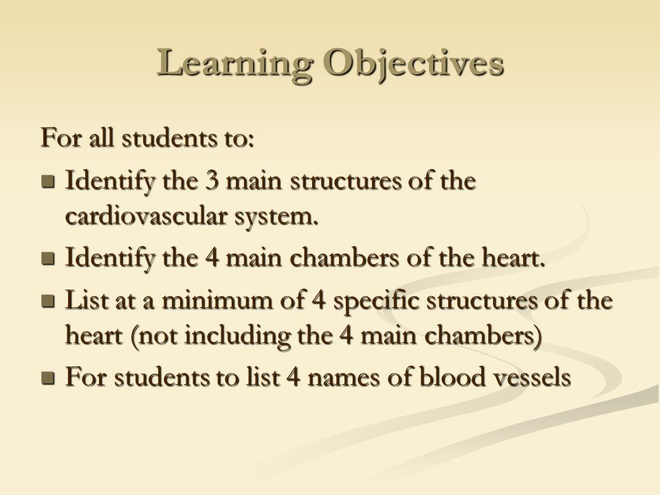 Enchanting Anatomy And Physiology Learning Objectives Gallery ...