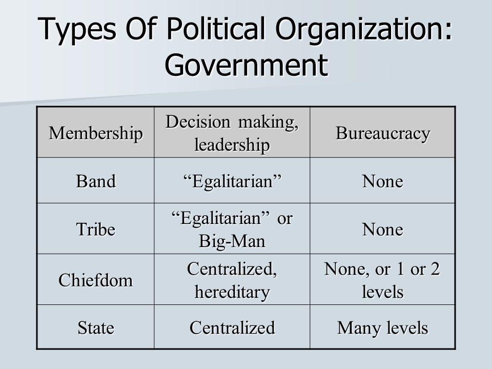 What are the types of power in politics