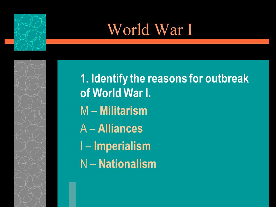 a study on the reasons for world wars i and ii The causes of world war 2 history essay into world war ii what were the causes of world war tool free vancouver referencing tool free study.