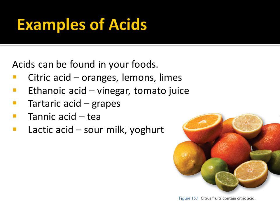 Foods Containing Citric Acid