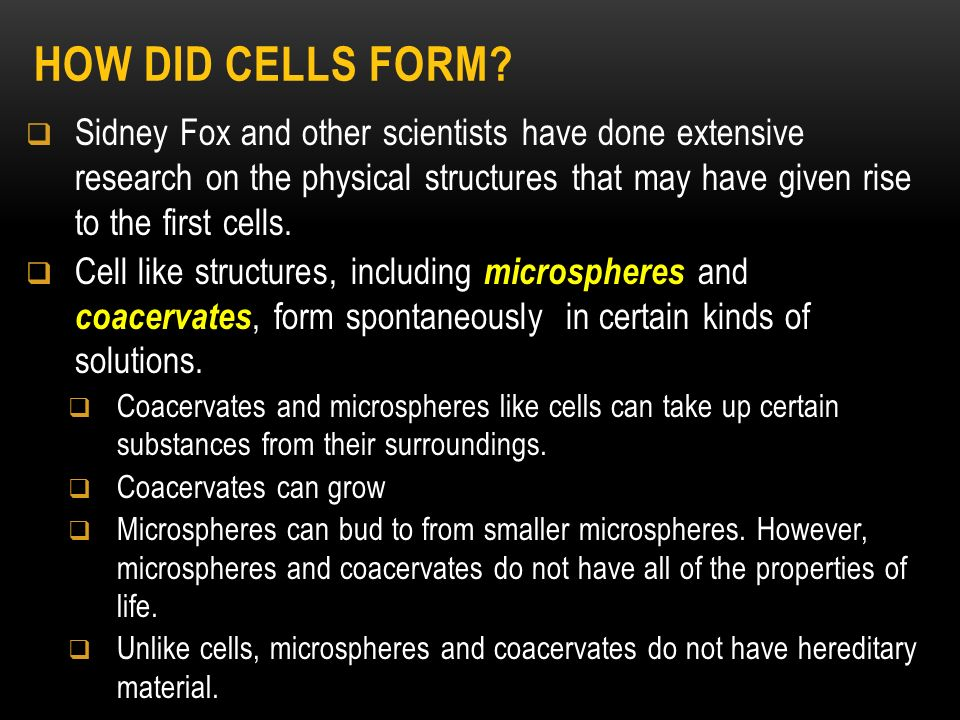 Topic 6 Origins of Life. - ppt video online download