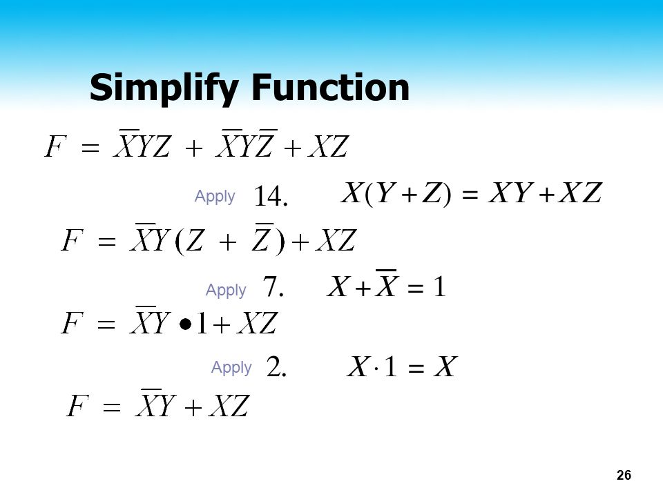 Simplify Function Apply Apply Apply
