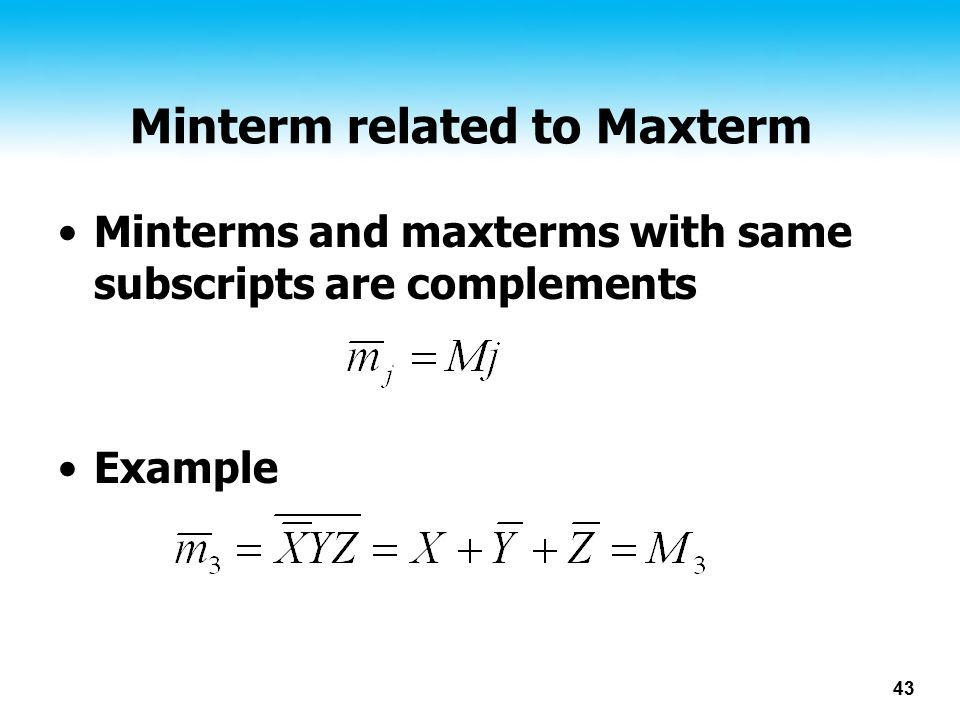 Minterm related to Maxterm