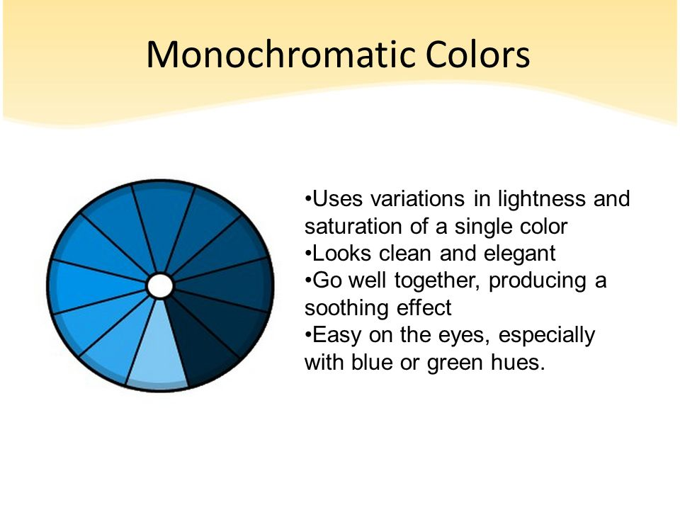 Monochromatic Color Definition color theory don't let your character change color with your