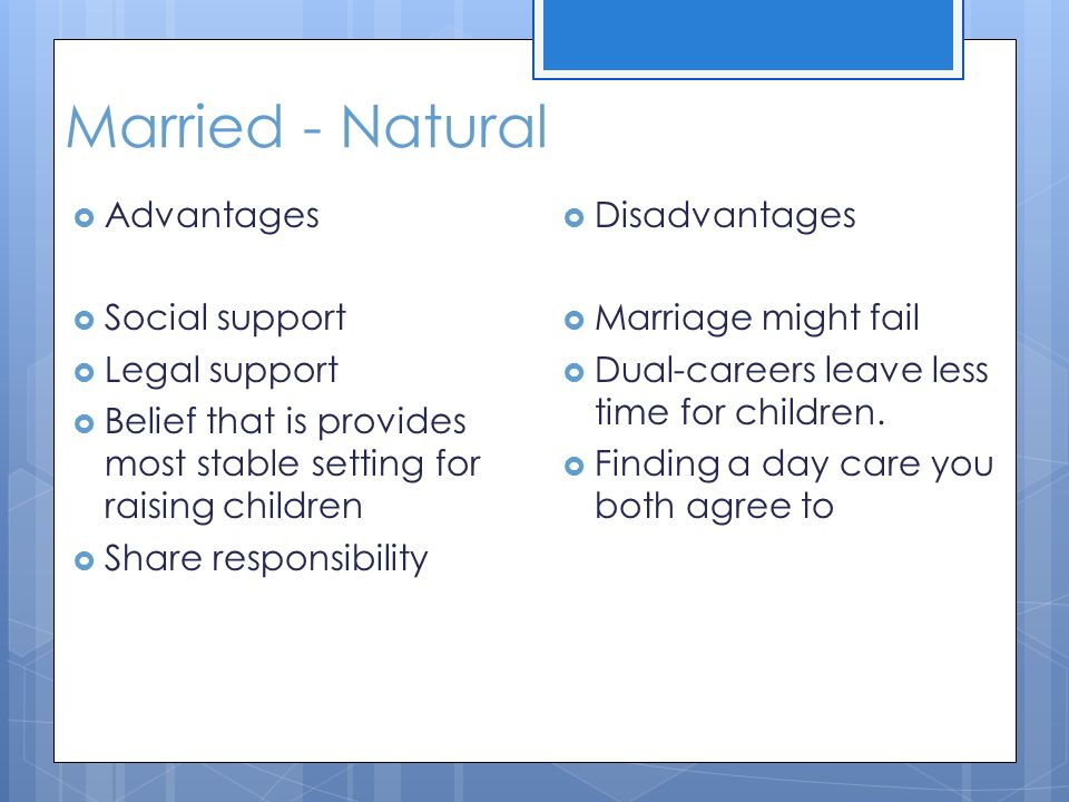 disadvantages of child marriage Comparing to those children growing up in a family with sisters or brothers, what  are the advantages and disadvantages of the marriage of the only child.