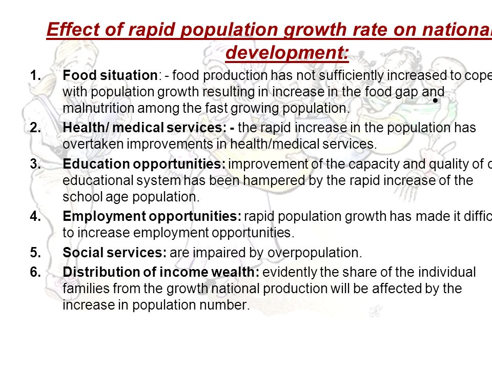 Effects of Rapid Population Growth