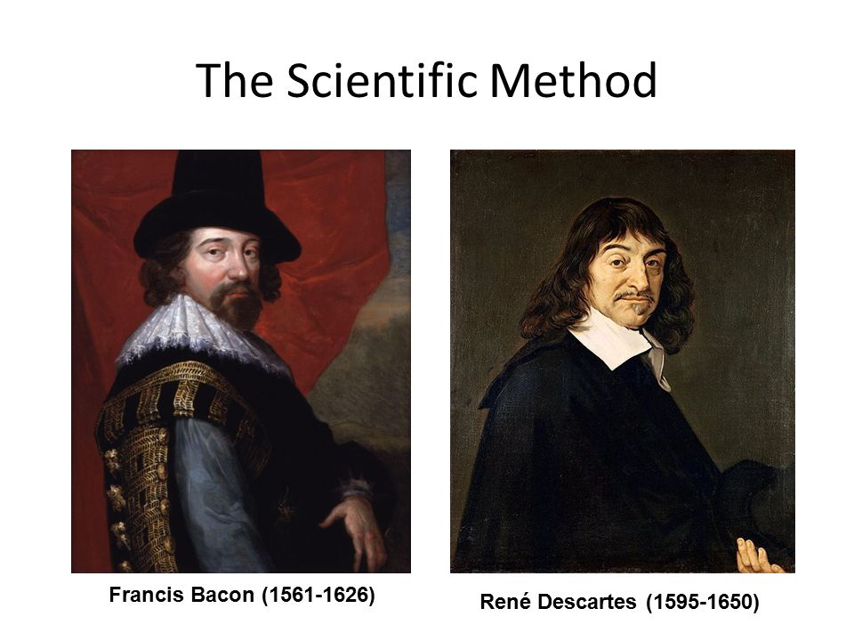 the contribution of francis bacon and rene descartes in the field of scientific knowledge Francis bacon and inductivism  exactly what scientific knowledge was available to descartes in 1629,  could not all the field of knowledge be so combined.