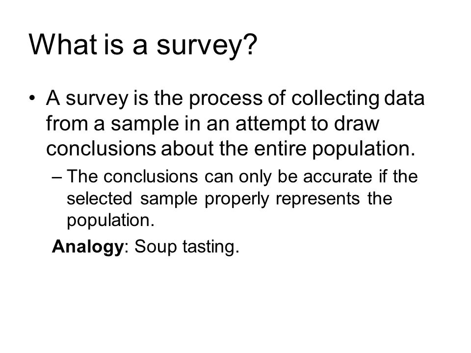 what is sample survey