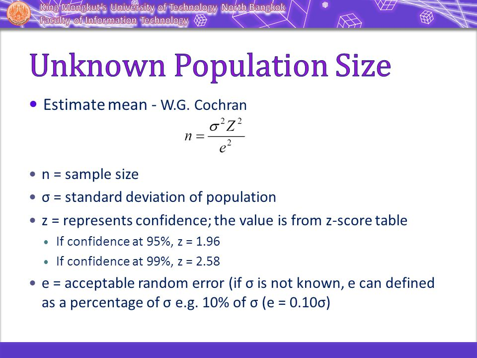 Population and sampling ppt video online download for Z table 99 confidence