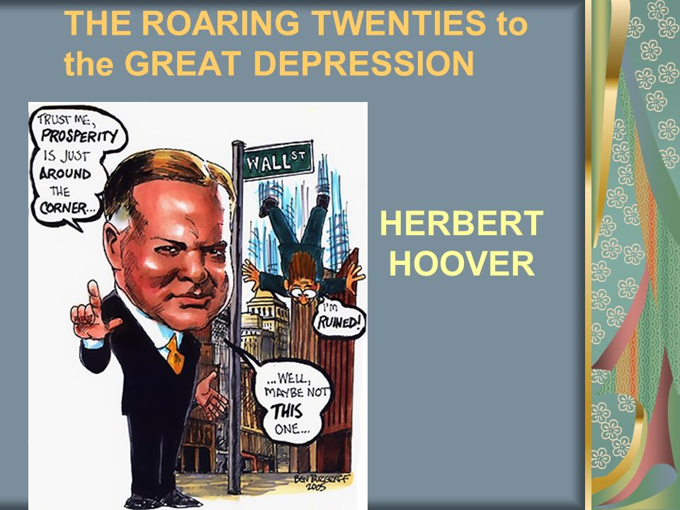 the roaring twenties the great depression essay How did american culture and attitude change in the 1920's the 1920's were a time of great social change characterized by apparent prosperity, new ideas, and personal freedom known as the roaring twenties america was reacting to the depression of the world war.