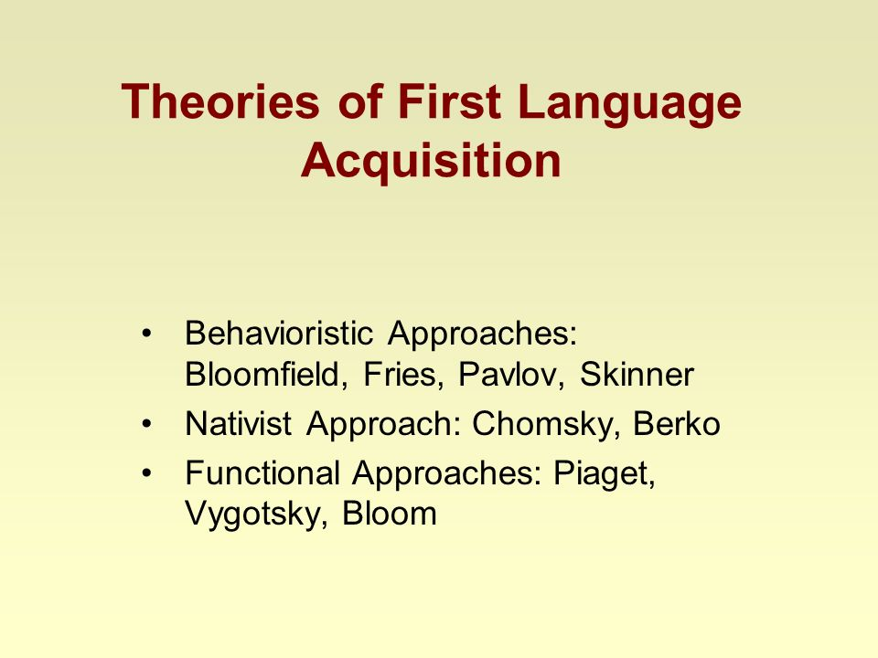 Noam Chomsky's Language Acquistion Theories