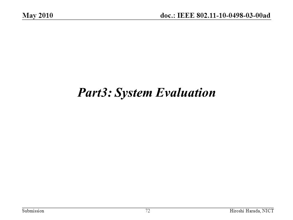 Part3: System Evaluation