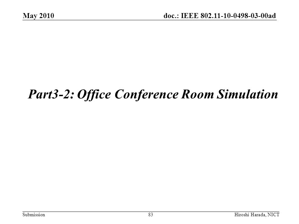Part3-2: Office Conference Room Simulation