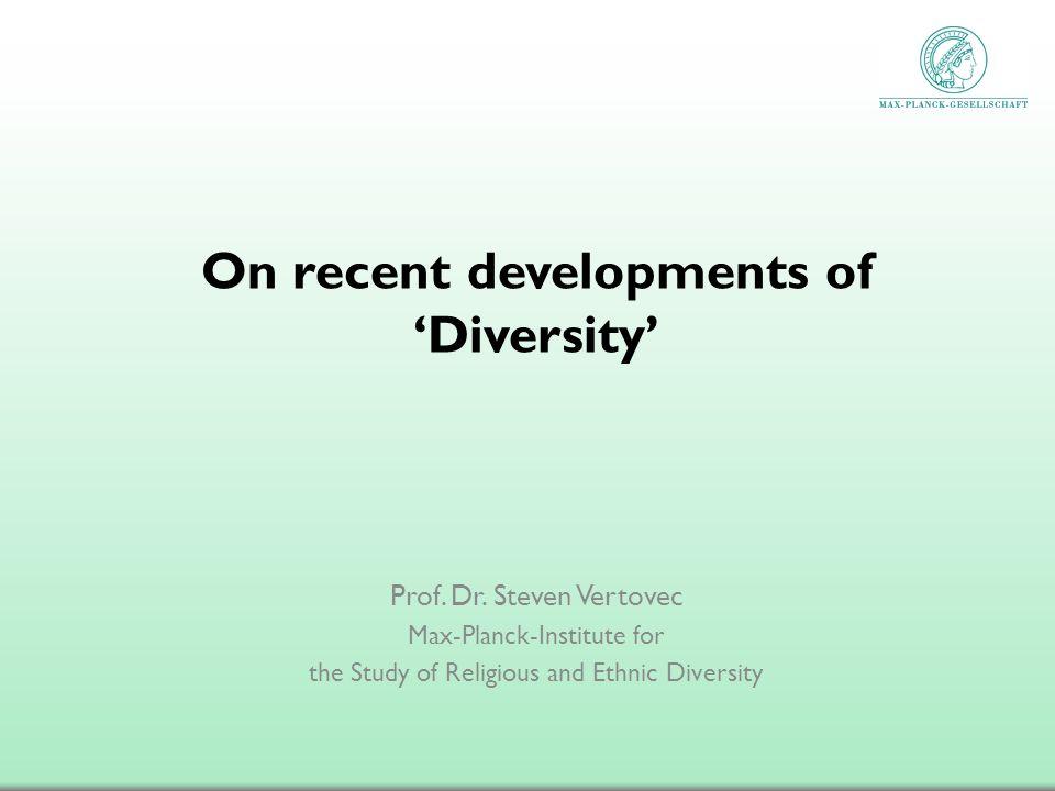 On recent developments of 'Diversity'
