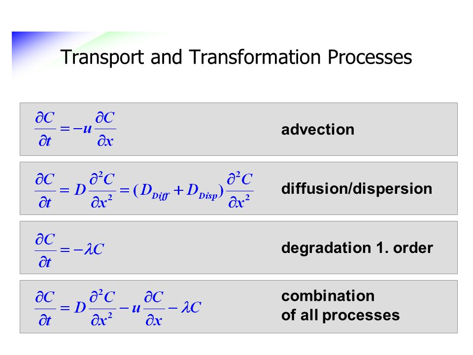 Transport and Transformation Processes