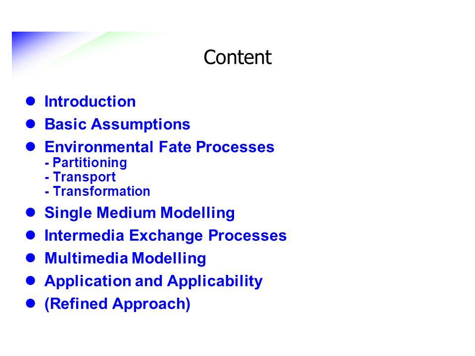 Content Introduction Basic Assumptions