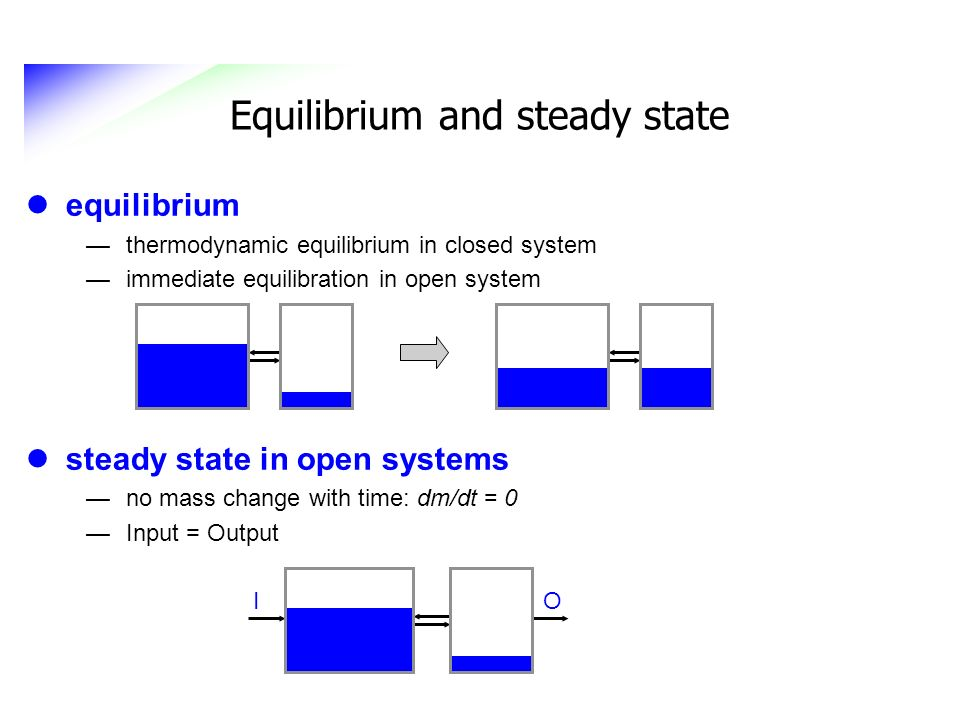 Equilibrium and steady state