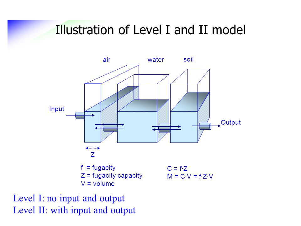 Illustration of Level I and II model