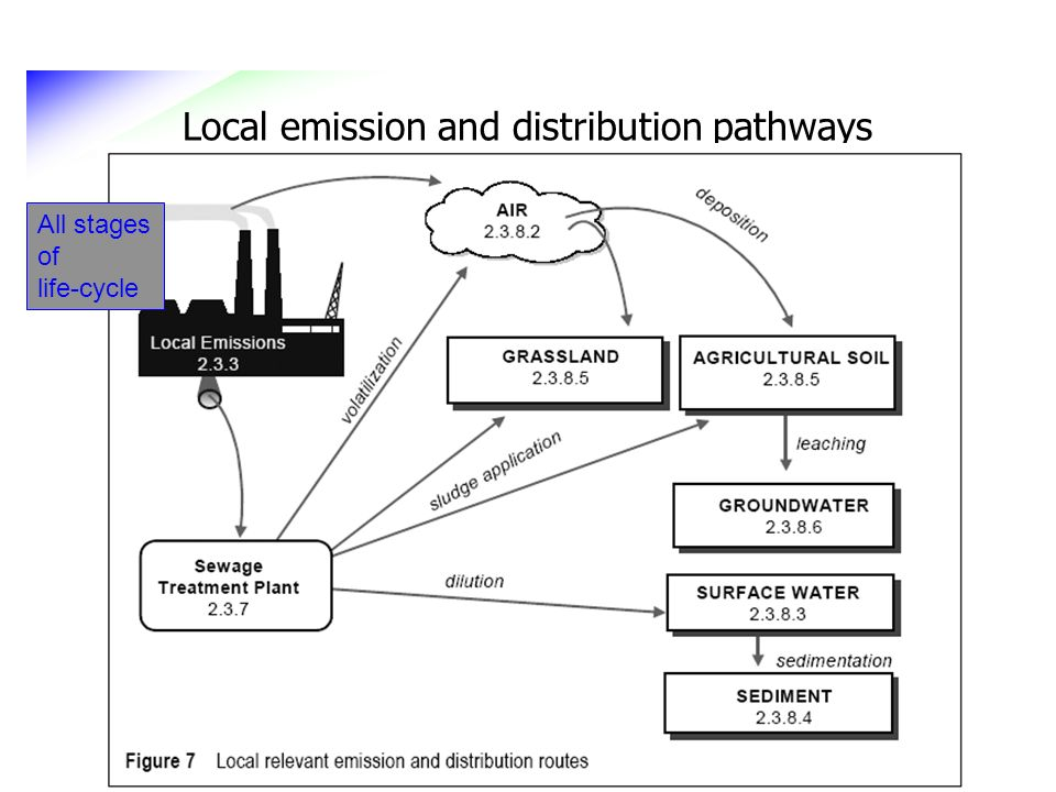 Local emission and distribution pathways