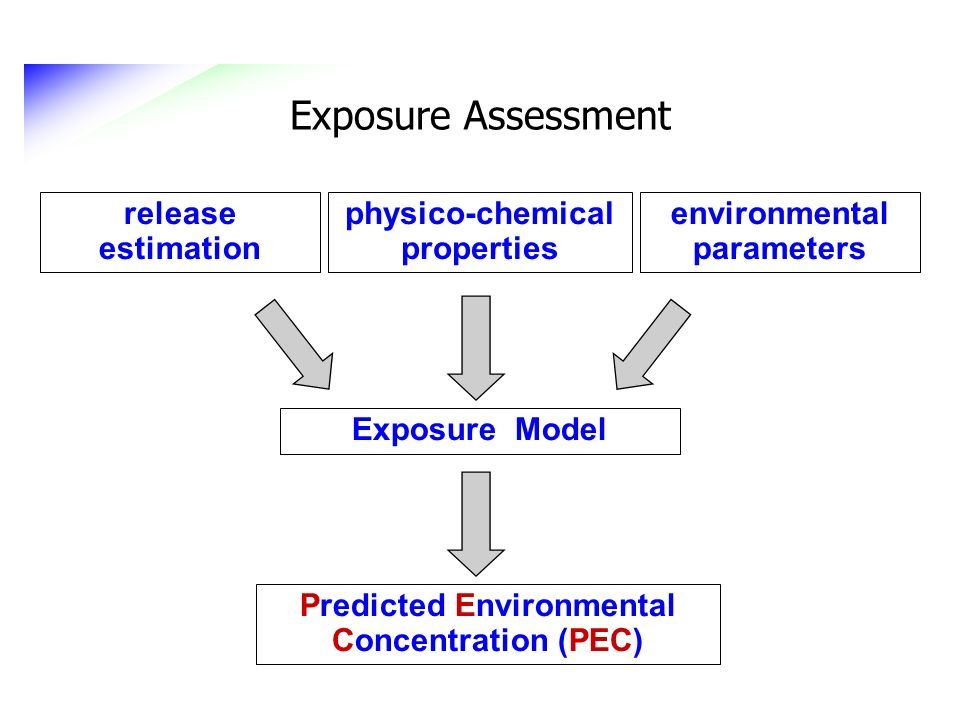Exposure Assessment release estimation physico-chemical properties