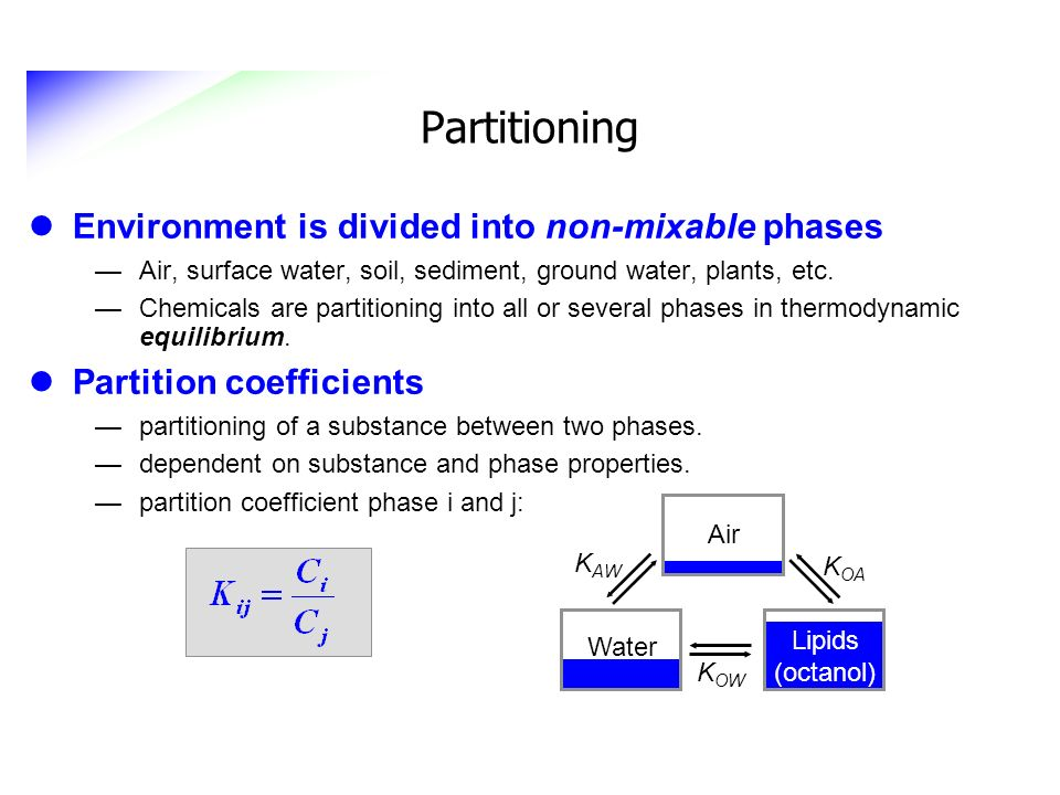 Partitioning Environment is divided into non-mixable phases