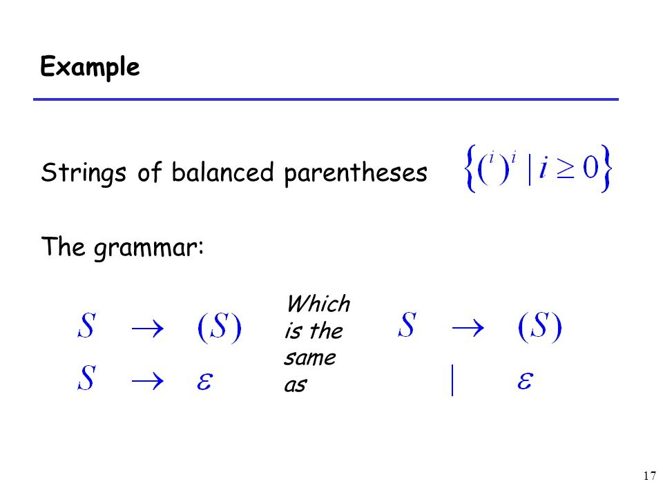 balanced paranthesis Balanced brackets problem  a matching pair of brackets is not balanced if the set of brackets it encloses are  and the pair of parentheses encloses a .