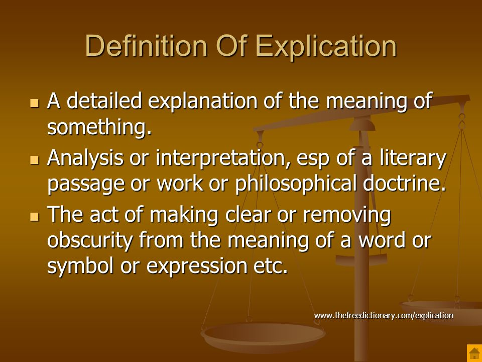 Superior Definition Of Explication