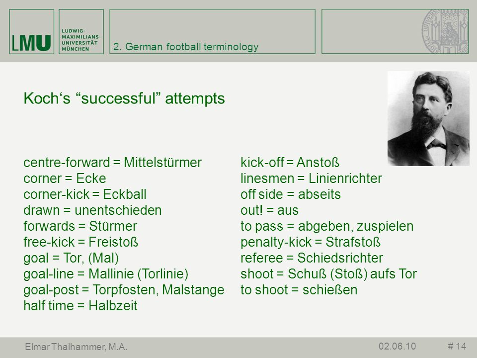 2. German football terminology