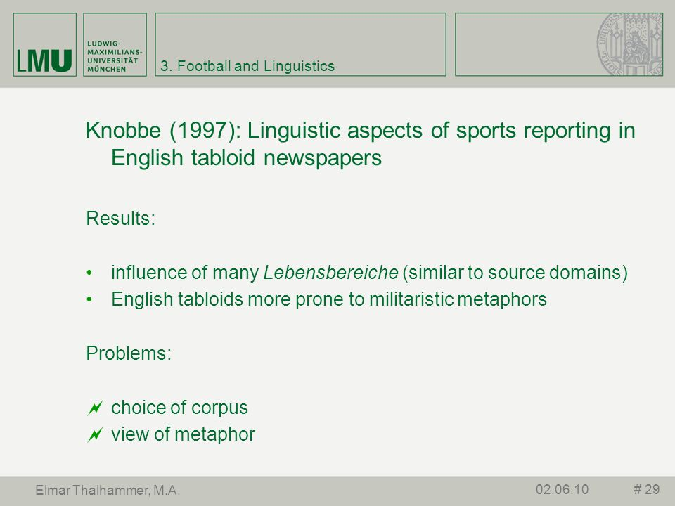 3. Football and Linguistics