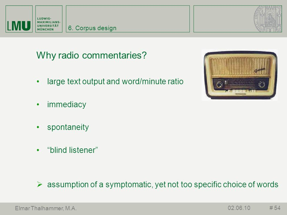 Why radio commentaries