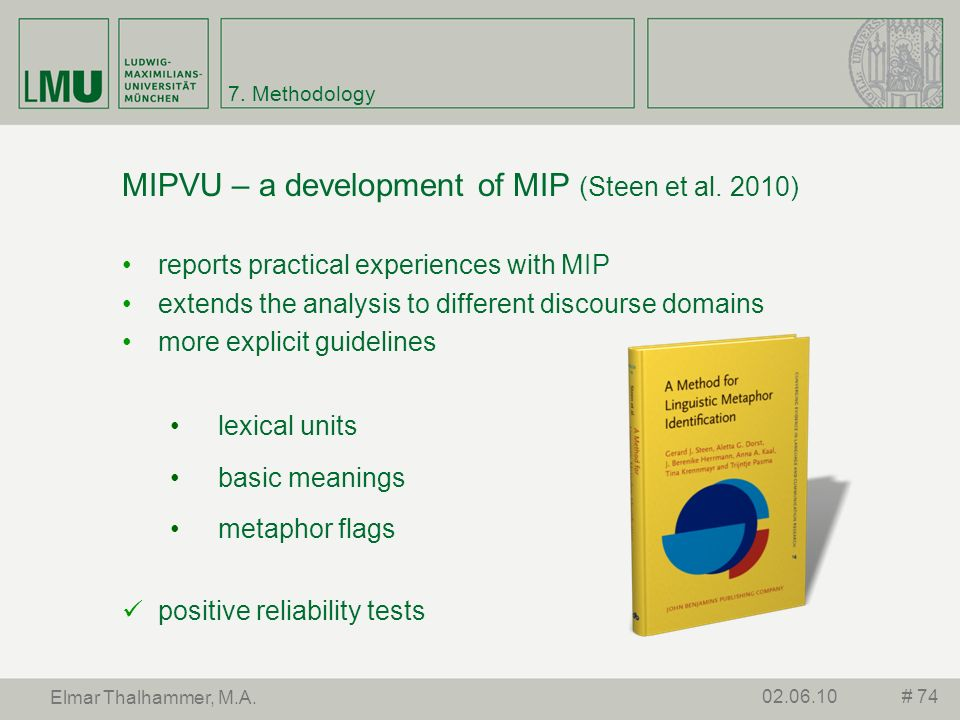 MIPVU – a development of MIP (Steen et al. 2010)