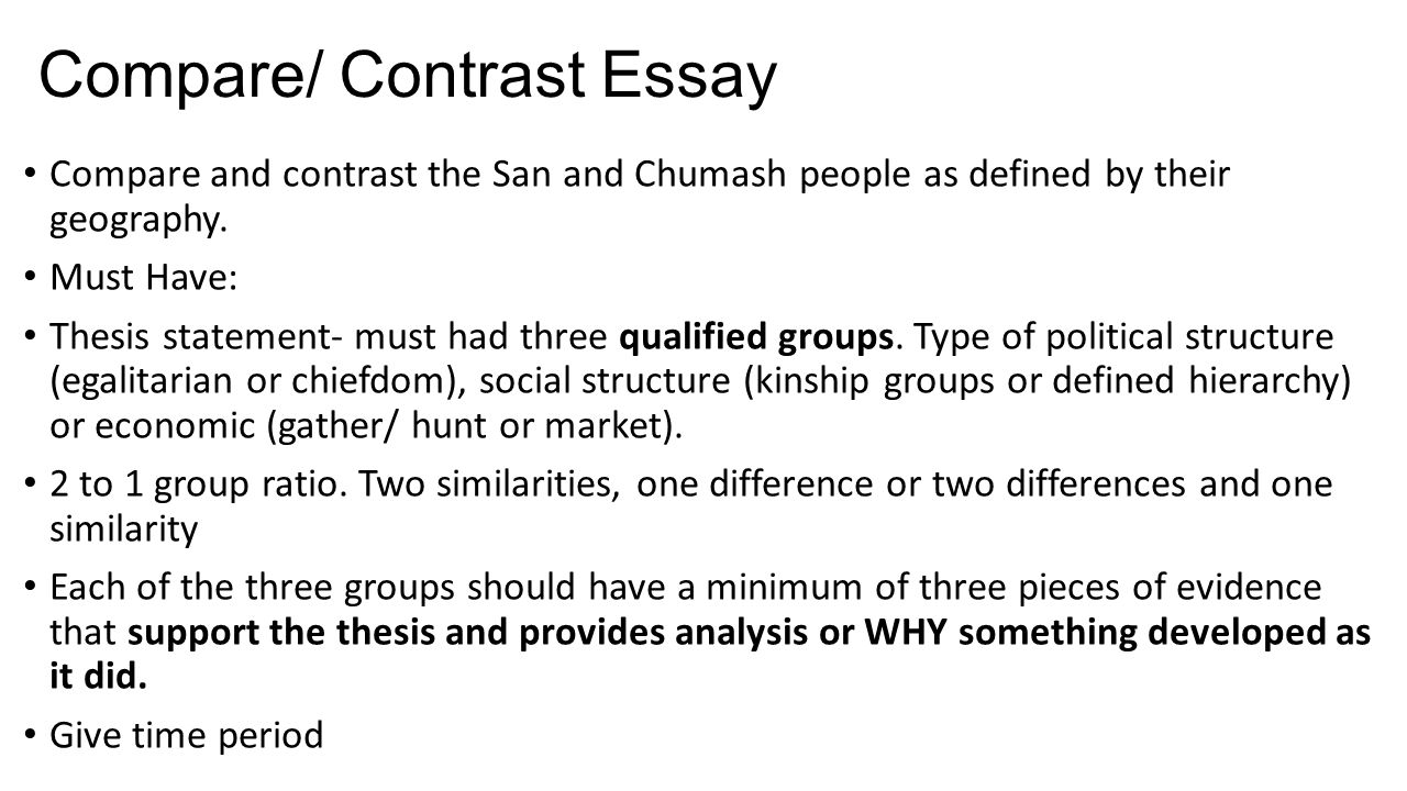 compare and contrast people essay Here you can find the main tips on how to write a winning compare and contrast essay if you feel you need assistance, contact us and we will write a great.