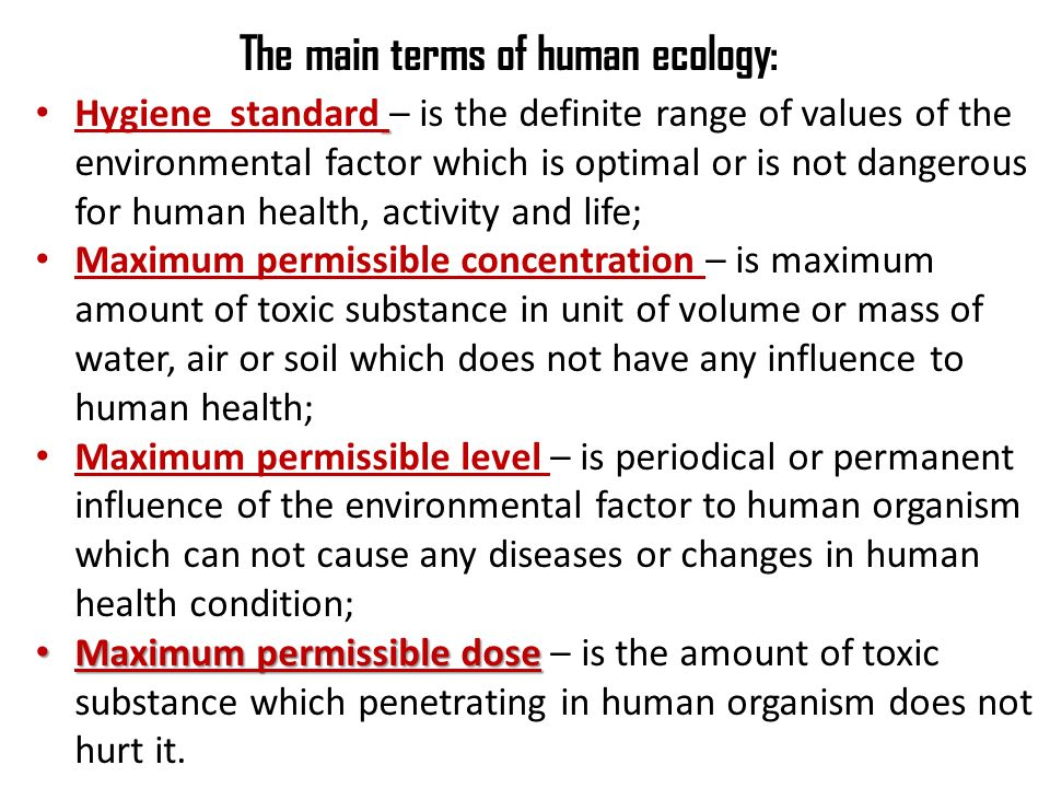 How Does Human Ecology Shape the Main Patterns