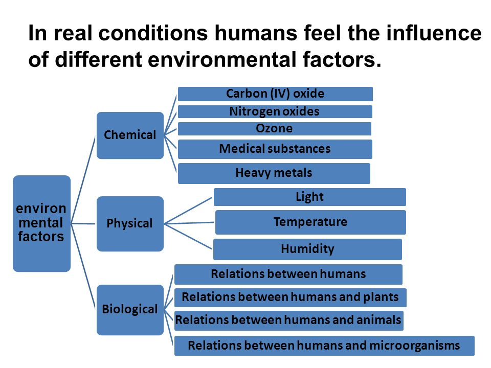effect of environmental conditions on human Relating to or concerned with the impact of human activities on the natural environment: the environmental movement 3 relating to potentially harmful factors originating in the environment: environmental illness.