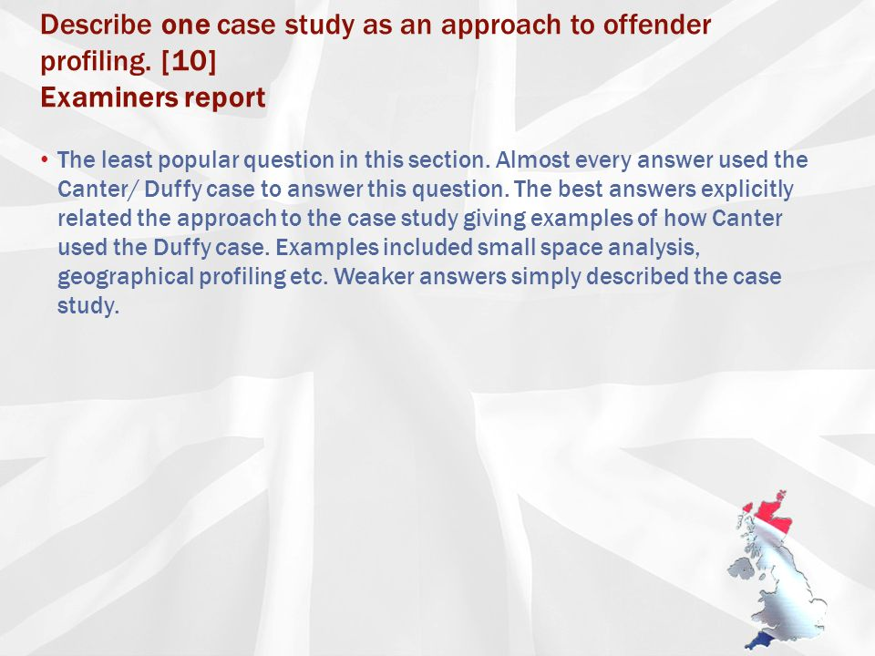 creating a profile ppt describe one case study as an approach to offender profiling