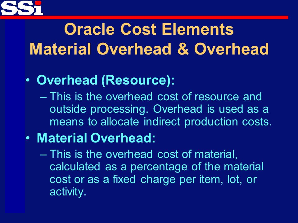 what are the sub components of fixed overhead Many manufacturing companies select a valuation base of standard cost  to  determine the direct cost of a finished item, all component costs.